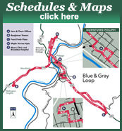 Schedules & Maps for Here and There Transit